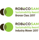 Logo. RobecoSAM Bronze Class and Industry Mover Award