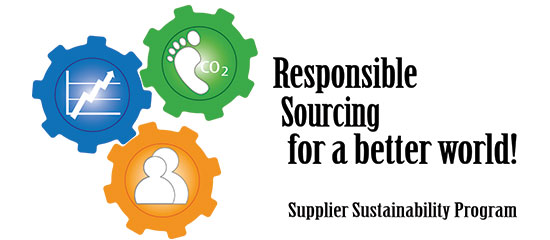 Figure. Responsible Sourcing for a better world. Supplier Sustainability Program.